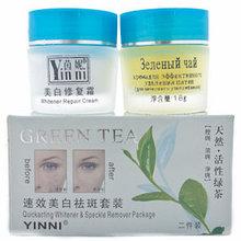 Отбеливающий крем зеленый чай для лица и тела 2в1