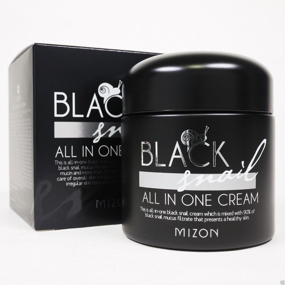 Крем с экстрактом черной улитки Black Snail All in one cream Mizon