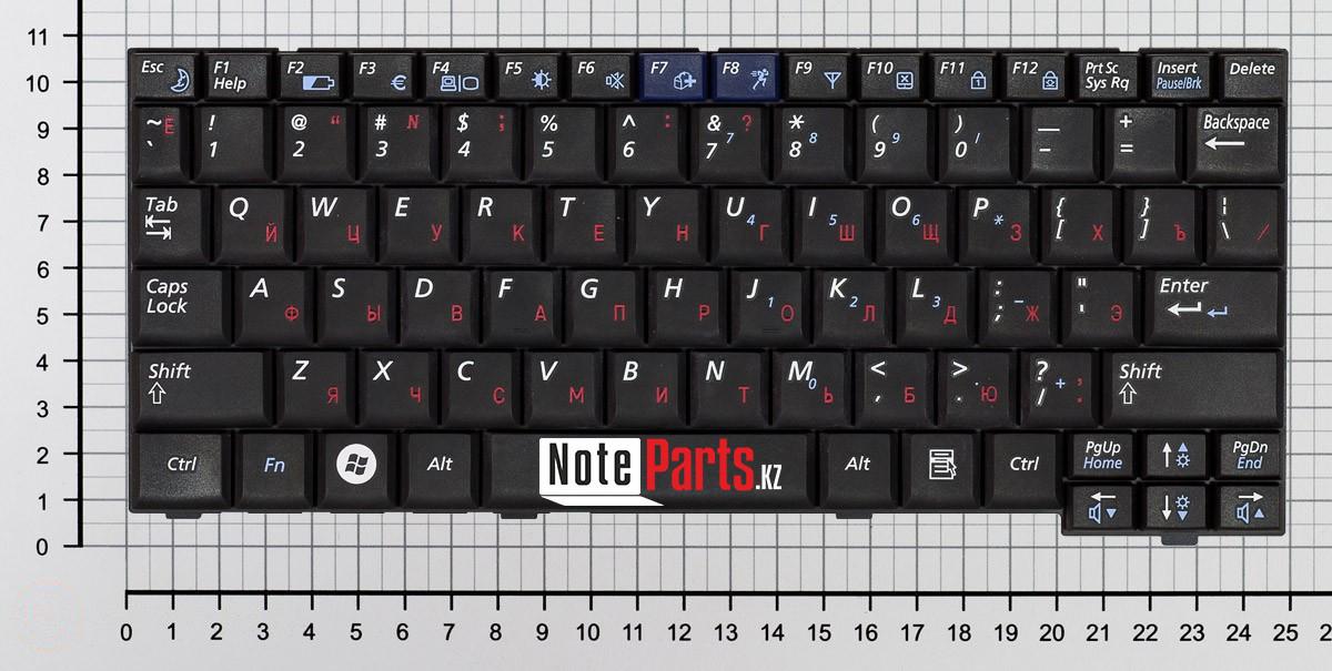 Клавиатура для ноутбука Samsung NC10 / N110 / N140, RU, черная