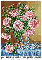 """Схема для вышивки бисером """"Букет чайных роз"""""""