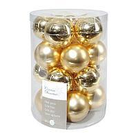 Шар стекло золотой глянцевый/матовый KA140214