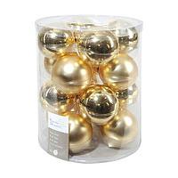 Шар стекло золотой глянцевый/матовый KA140713