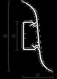 Плинтус IDEAL Альфа 45мм Ясень белый 252, фото 2