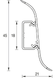 Плинтус IDEAL Альфа 45мм Ясень серый 253, фото 2
