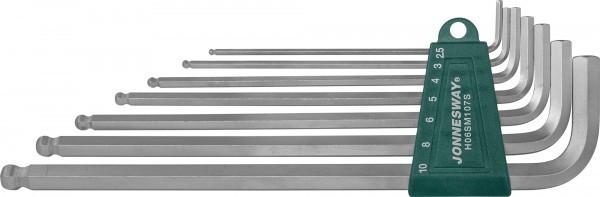 Набор ключей торцевых шестигранных удлиненных с шаром, 7 предметов H06SM107S