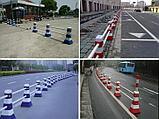Барьер (забор) пластиковый конический для деления проезжей части дороги, фото 3
