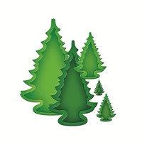 Набор ножей для вырубки -  праздничные деревья 2013