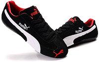 Кроссовки Puma Ferrari замшевые черно-белые
