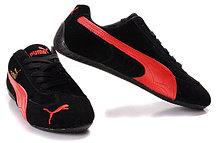 Кроссовки Puma Ferrari замшевые черно-красные, фото 2