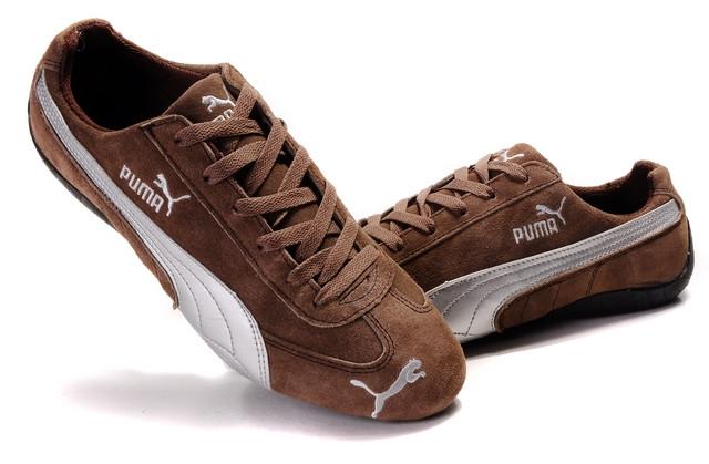 Кроссовки Puma Ferrari замшевые коричневые