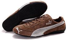 Кроссовки Puma Ferrari замшевые коричневые  , фото 3