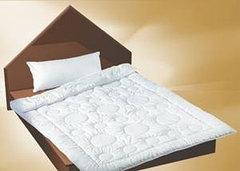 Одеяло  из кашемира Двуспальное Евро Сатин Белый