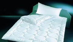 Одеяло шелковое Двуспальное Евро Сатин Белый