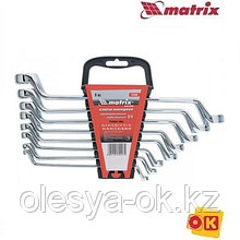 Набор ключей накидных 8 шт, 6-22мм. MATRIX Master