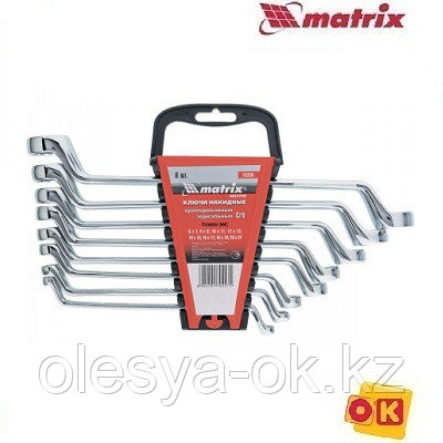 Набор ключей накидных 8 шт, 6-22мм. MATRIX Master, фото 2