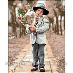 """Картины по номерам """"Мальчик с букетом"""""""