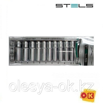 Набор удлиненных головок 1/2, 10 шт. 10-22 мм. STELS