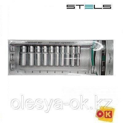 Набор удлиненных головок 3/8, 10 шт. 8-19 мм. STELS, фото 2