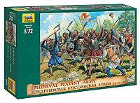 Сборная модель Средневековая крестьянская армия XIII-XV века 1\72, Звезда