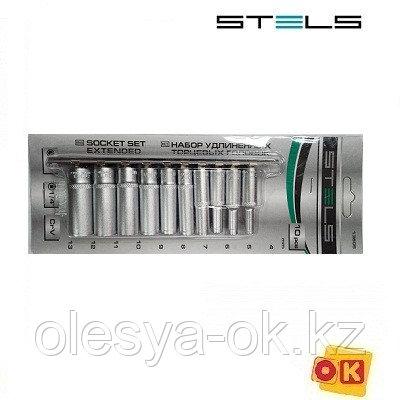 Набор удлиненных головок 1/4, 10 шт. 4-13 мм. STELS