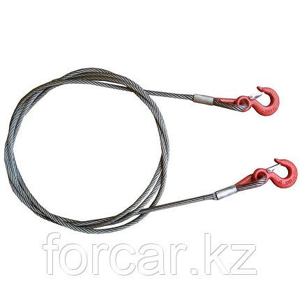 Буксировочный трос (стальной) Tplus 5 т 5 м Крюк/Крюк, фото 2