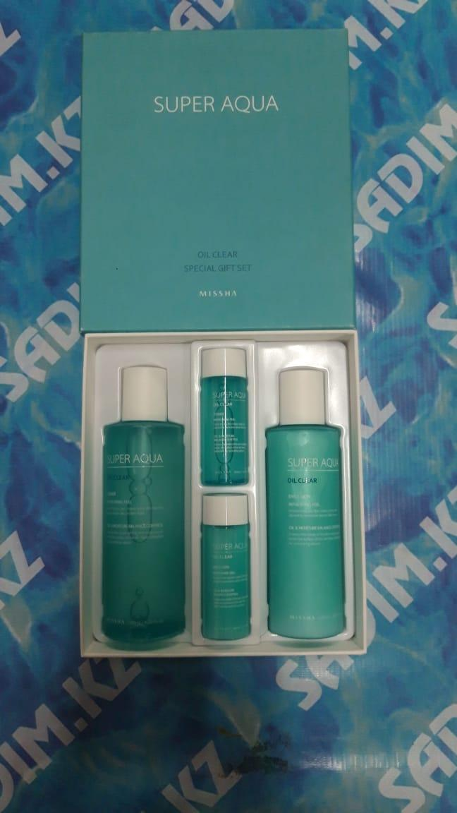 Missha Super Aqua Oil Clear Special Gift Set - Набор для ухода за жирной кожей