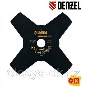 Диск для триммера, 230 х 25,4 мм, толщина 1,6 мм, 4 лезвия. DENZEL, фото 2