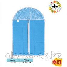 Чехол для хранения одежды на молнии, нетканый материал, ПВХ, 60 х 90 см. Elfe