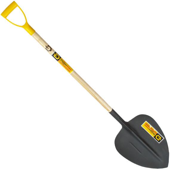 Лопата из рельсовой стали совковая щебеночная с деревянным черенком и ручкой (Тип1) ДМ