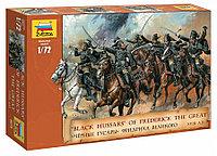 Сборная модель Черные гусары Фридриха Великого XVIII 1\72, Звезда