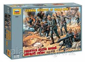 Сборная модель Немецкая пехота Первой Мировой Войны 1914-1918гг 1\72, Звезда