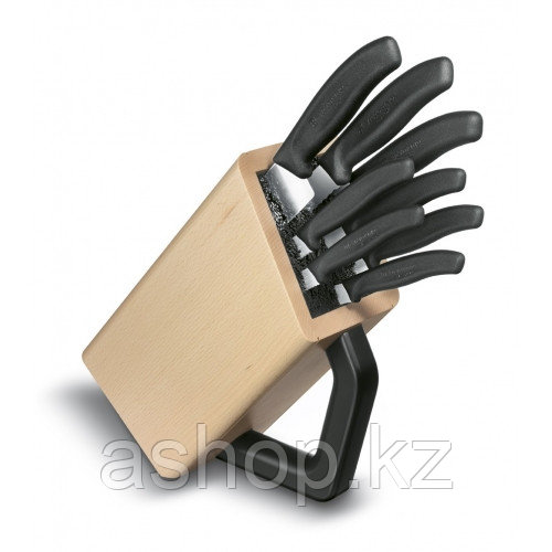 Набор ножей кухонных Victorinox Cutlery Block 8, Материал клинка: Нержавеющая сталь, Материал рукояти: Полипро