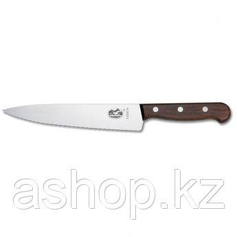 Нож разделочный Victorinox Carving Knife Serrated Rosewood, Длина клинка: 250 мм, Материал клинка: Нержавеющая