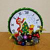 """Новогодние детские часы из конфет """"Винни и друзья"""""""