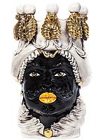 """Testa di MoroВаза сицилийская """"Голова Мавра"""" с подсвечниками ручной работы, керамика и золото"""