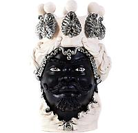 """Testa di Moro Ваза сицилийская """"Голова Мавра"""" ручной работы, керамика и платина"""