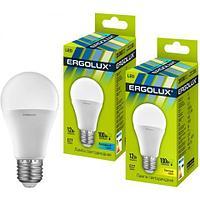 Эл. лампа светодиодная Ergolux A60/4500K/E27/12Вт, Холодный
