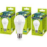 Эл. лампа светодиодная Ergolux A65/3000K/E27/20Вт, Тёплый