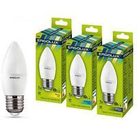 Эл. лампа светодиодная Ergolux C35/4500K/E27/7Вт, Холодный