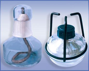 Спиртовка тип СЛ-2 с фенопластовым колпачком и подставкой ГОСТ 25336-82