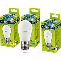 Эл. лампа светодиодная Ergolux G45/6500K/E27/9Вт, Дневной
