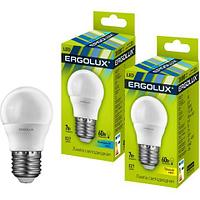 Эл. лампа светодиодная Ergolux G453000K/E27/7Вт, Тёплый