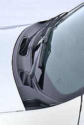 Накладка в проем стеклоочистителей (жабо) (черное тиснение) (ABS) RENAULT Duster 2012-