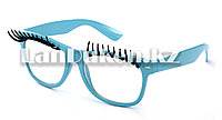 Карнавальные очки с ресницами (голубые), фото 1
