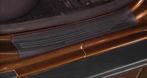 Накладка в проем задних дверей (черное тиснение) (ABS) RENAULT Duster 2012-