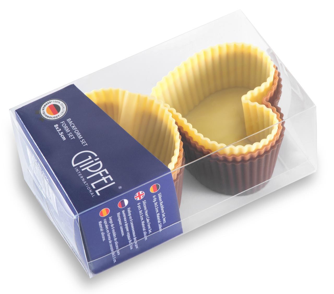 Набор из 6 силиконовых форм для выпечки. GIPFEL 0356