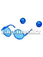 Карнавальные очки Диско с подвеской шары синие