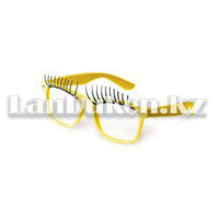 Карнавальные очки с ресницами (желтые)