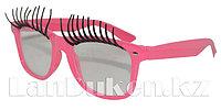 Карнавальные очки с ресницами (розовые)