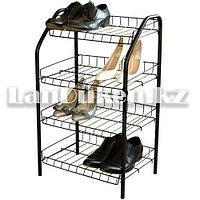 Этажерка для обуви 4 полки металлический каркас (Nika ЭТ-2 ДхШхВ 460х280х700 мм)
